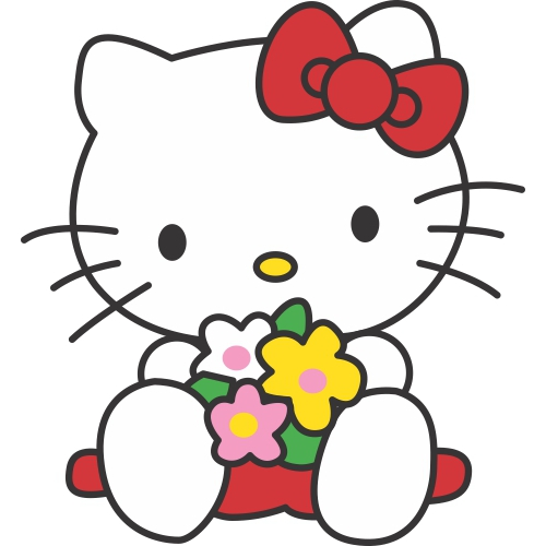 Hello Kitty DIY decals stickers version 8